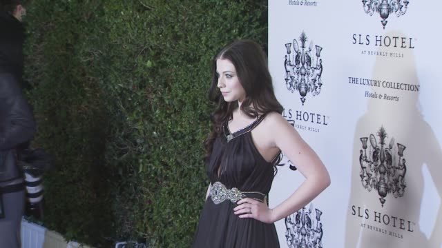 michelle trachtenberg at the opening of sbe's sls hotel at los angeles ca. - ミシェル・トラクテンバーグ点の映像素材/bロール