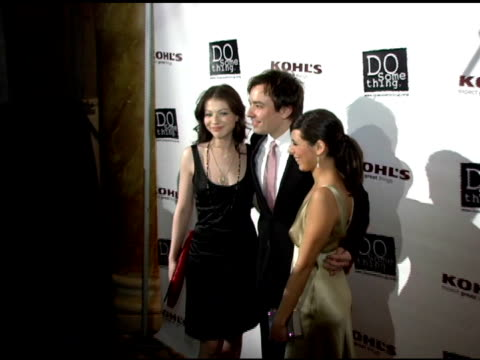 michelle trachtenberg, jimmy fallon and jamie lynn sigler at the 2006 brick awards from do something in celebration of young social entrepreneurs and... - jamie lynn sigler stock videos & royalty-free footage