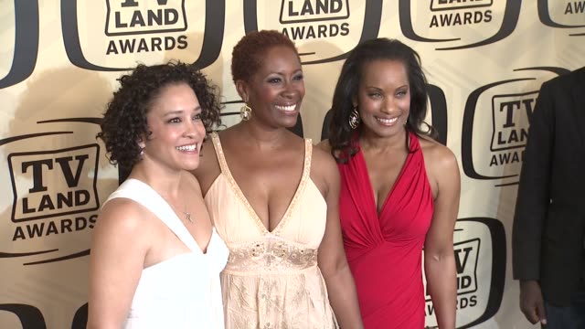 michelle whitney morrison deidre lang and lisa marie todd at tv land awards 10th anniversary arrivals at lexington avenue armory on april 14 2012 in... - tv land awards stock videos and b-roll footage