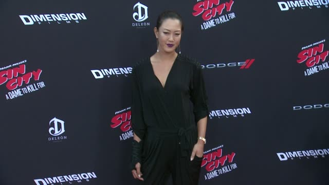 """michelle wie at """"sin city: a dame to kill for"""" los angeles premiere at tcl chinese theatre on august 19, 2014 in hollywood, california. - tcl chinese theatre video stock e b–roll"""