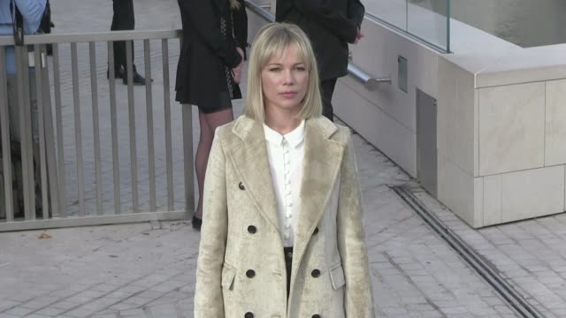 michelle williams alicia vikander xavier dolan bae doona catherine deneuve adele exarchopoulos and more attending the louis vuitton spring summer... - michelle williams actress stock videos and b-roll footage