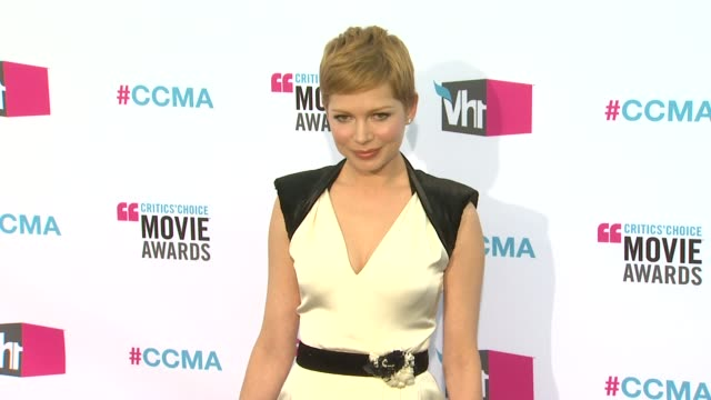 Michelle Williams at 17th Annual Critics' Choice Movie Awards on 1/12/12 in Hollywood CA