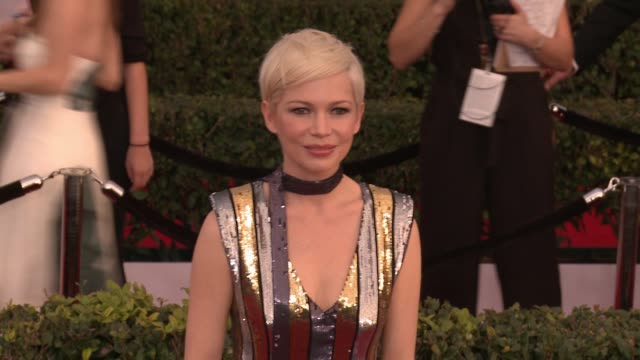 Michelle Williams at 23rd Annual Screen Actors Guild Awards Arrivals in Los Angeles CA