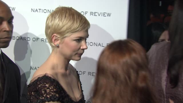Michelle Williams at the 2011 National Board of Review of Motion Pictures Gala at New York NY