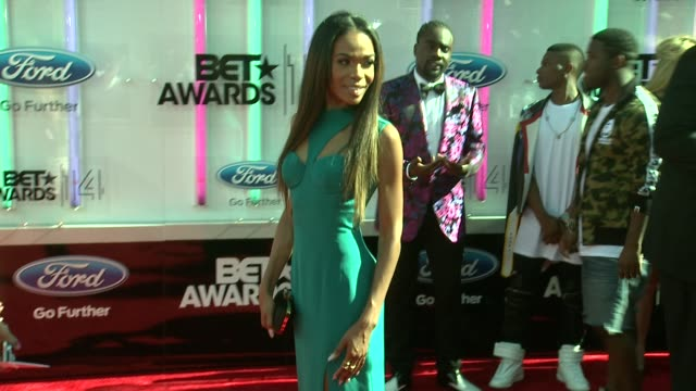 michelle williams at the 2014 bet awards on june 29 2014 in los angeles california - bet awards stock videos and b-roll footage