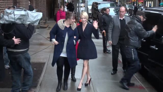 Michelle Williams at the 'Late Show with David Letterman' studio Michelle Williams at the 'Late Show with David Let on February 19 2013 in New York...