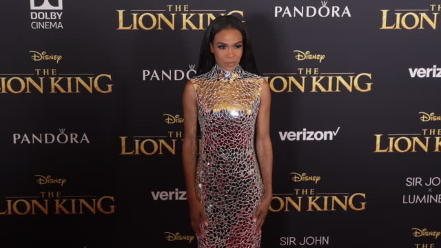 stockvideo's en b-roll-footage met michelle williams at the world premiere of disney's the lion king at dolby theatre on july 09 2019 in hollywood california - première