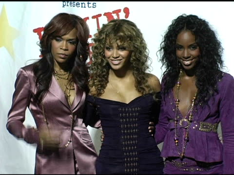 stockvideo's en b-roll-footage met michelle williams beyonce knowle and kelly rowland of destiny's child at the rockin' the corp an american thank you celebration concert for us... - 2005