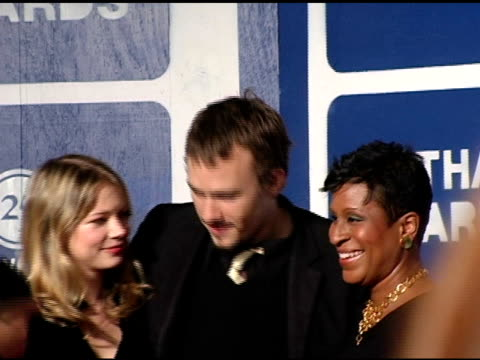 michelle williams, heath ledger and michelle byrd, executive director of ifp at the ifp's 15th annual gotham awards arrivals at pier 60 at chelsea... - executive director stock videos & royalty-free footage
