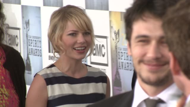 Michelle Williams James Franco at the Film Independent's 2009 Spirit Awards Arrivals Part 2 at Los Angeles CA