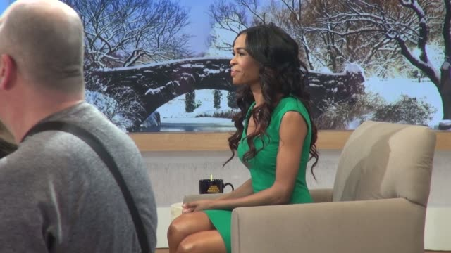 michelle williams of destiny's child at the 'good morning america' studio in new york, ny, on 1/24/13. - destiny's child stock-videos und b-roll-filmmaterial