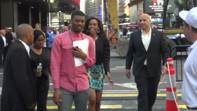 michelle williams of destiny's child walking onto the outside set of the good morning america show in celebrity sightings in new york, - destiny's child stock videos & royalty-free footage