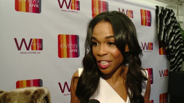 INTERVIEW Michelle Williams on Evine Live on her collection on the Evine Live platform at Celebrating the Women of EVINE Live in Los Angeles CA