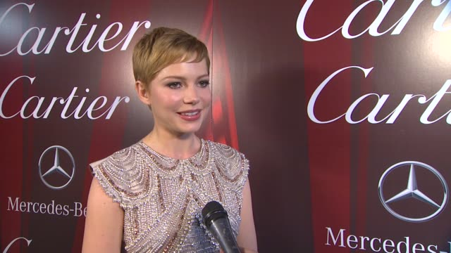Michelle Williams on how it feels to be a part of the Palm Springs International Film Festival receiving the Desert Palm Achievement Award what makes...
