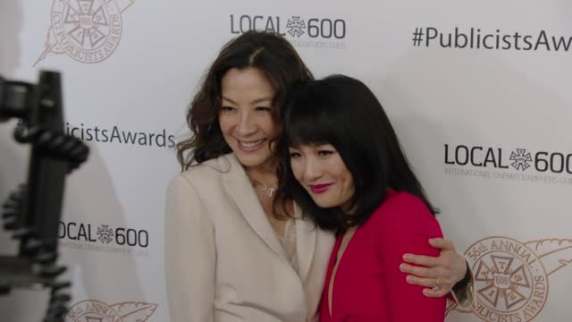 Michelle Yeoh and Constance Wu at 56th Annual ICG Publicists Awards 2019 at The Beverly Hilton Hotel on February 22 2019 in Beverly Hills California