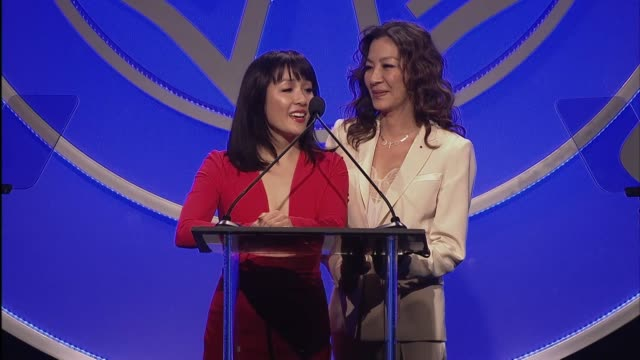 SPEECH Michelle Yeoh and Constance Wu at 56th Annual ICG Publicists Awards 2019 at The Beverly Hilton Hotel on February 22 2019 in Beverly Hills...