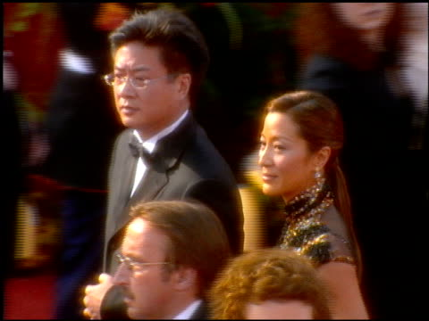 michelle yeoh at the 2001 academy awards at the shrine auditorium in los angeles, california on march 25, 2001. - 第73回アカデミー賞点の映像素材/bロール