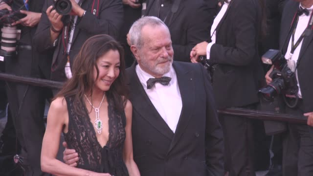 michelle yeoh terry gilliam at 'julieta' red carpet on may 17 2016 in cannes france - terry gilliam stock videos & royalty-free footage
