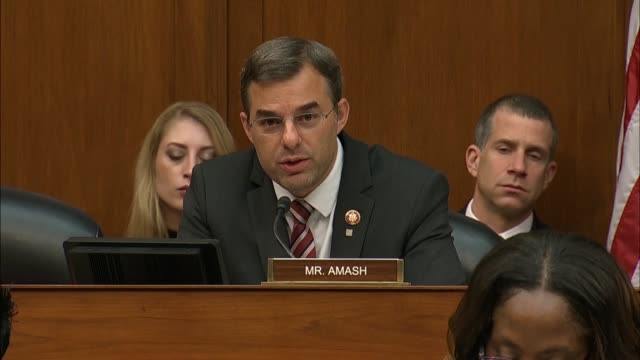 Michigan Congressman Justin Amash asks former Donald Trump attorney Michael Cohen at a House Oversight and Reform Committee hearing what worries...