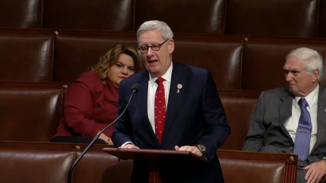 michigan congressman paul mitchell argues in debate on a shortterm funding bill hours into a second fiscal 2018 government shutdown that democracy... - paul mitchell stock videos and b-roll footage