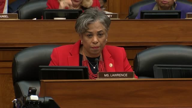 Michigan Congresswoman Brenda Lawrence asks former Donald Trump attorney Michael Cohen at a House Oversight and Reform Committee hearing why he...