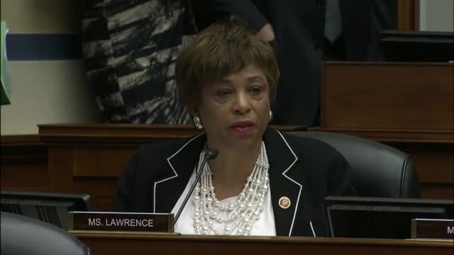 michigan congresswoman brenda lawrence says every american has the right to three basic needs, safe water, food, and water, saying that government... - trust stock videos & royalty-free footage