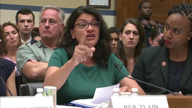 michigan congresswoman rashida tlaib testifies at a house oversight and reform committee hearing on immigrant family separation that she spoke to... - migrant worker stock videos and b-roll footage