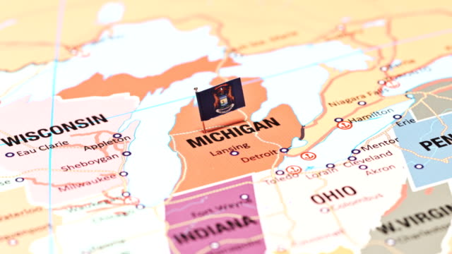 michigan from usa states - michigan stock videos & royalty-free footage