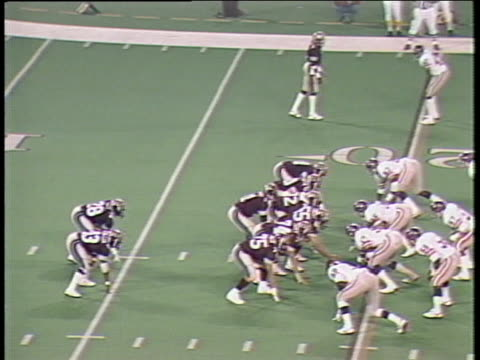1984 montage ha ms michigan panthers quarterback bobby hebert throwing an inomplete pass against pittsburgh maulers/ ms hebert on field/ pontiac, michigan - pontiac stock videos and b-roll footage