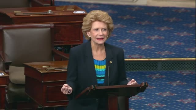 michigan senator debbie stabenow says as the senate was to adjourn after two weeks of negotiations between democrats and trump administration... - {{ collectponotification.cta }} stock videos & royalty-free footage