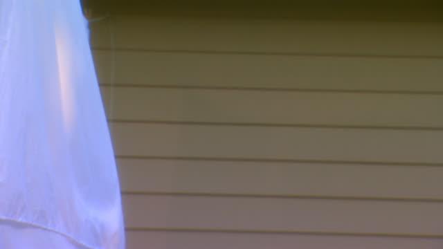 vídeos y material grabado en eventos de stock de michiganbackyard - cuerda de tender la ropa