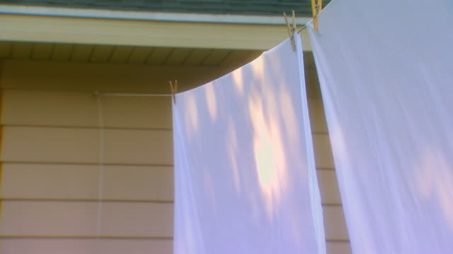 michigansheets drying on clothes line - washing line stock videos & royalty-free footage
