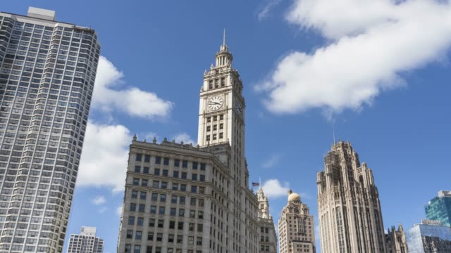 michigan-wacker historic district cloud time lapse - 1925 stock videos & royalty-free footage