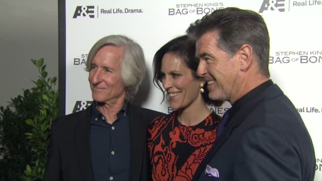 Mick Garris Annabeth Gish Pierce Brosnan at Premiere Party For AE's Original Miniseries Bag Of Bones on 12/8/11 in West Hollywood CA
