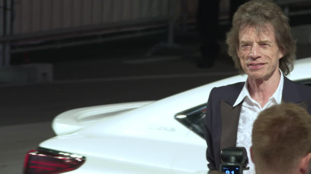 mick jagger at 'the burnt orange heresy' red carpet arrivals 76th venice film festival on september 07 2019 in venice italy - 76th venice film festival 2019点の映像素材/bロール