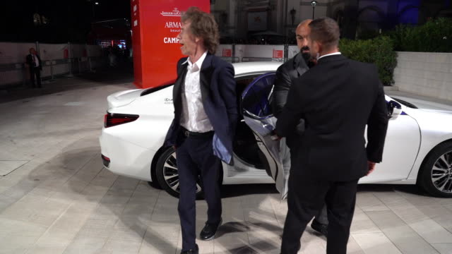 mick jagger at 'the burnt orange heresy' red carpet arrivals 76th venice film festival on september 7 2019 in venice italy - 76th venice film festival 2019点の映像素材/bロール