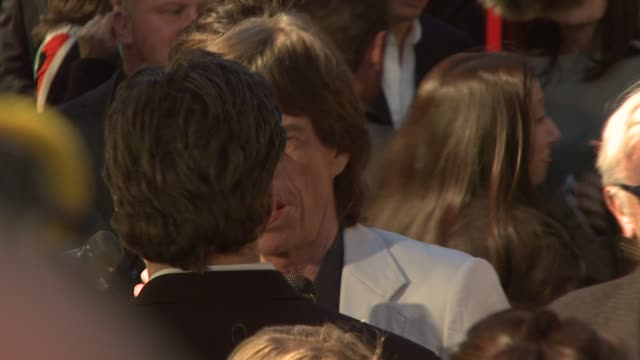 Mick Jagger at the Premiere of Shine A Light at the Ziegfeld Theatre in New York New York on March 30 2008