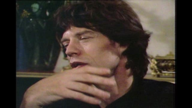 mick jagger in 1983 on whether he's ever looked back on the preceding twenty years of his career - nostalgia stock videos & royalty-free footage
