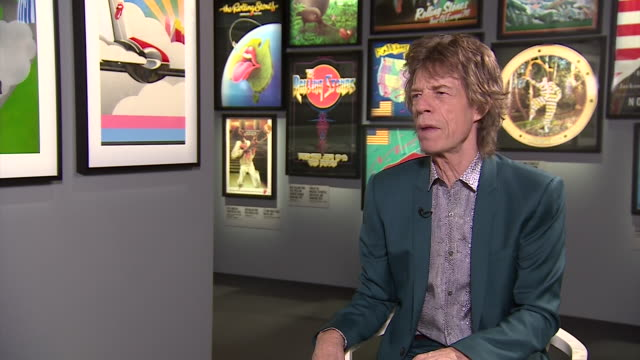 mick jagger saying that the rolling stones are one of the most important rock bands in music history - media interview stock videos and b-roll footage