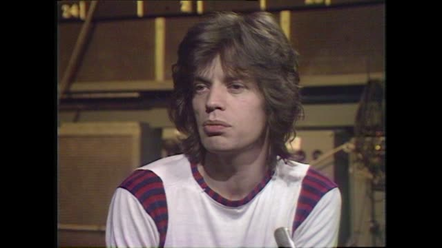 mick jagger speaking in 1972 on making the rolling stones album exile on main street - interview stock videos & royalty-free footage