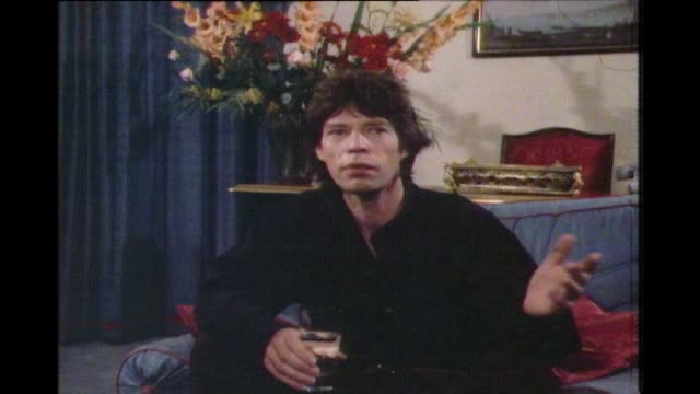 mick jagger speaking in 1972 on working closely with keith richards on writing songs and trying things out but both have their specialist area we... - mature adult stock videos & royalty-free footage
