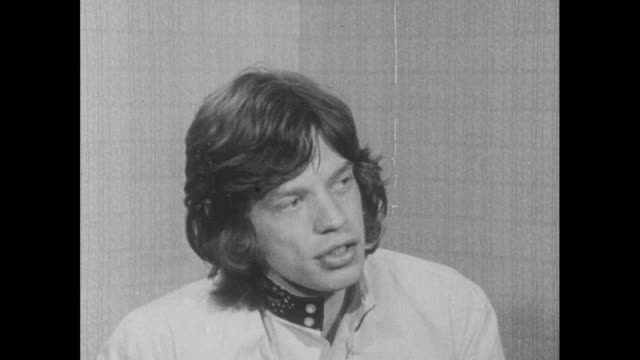 vídeos de stock e filmes b-roll de mick jagger talks about his his responsibility towards young people and sympathises with their position after his sentence for drug possession was... - rolling stones