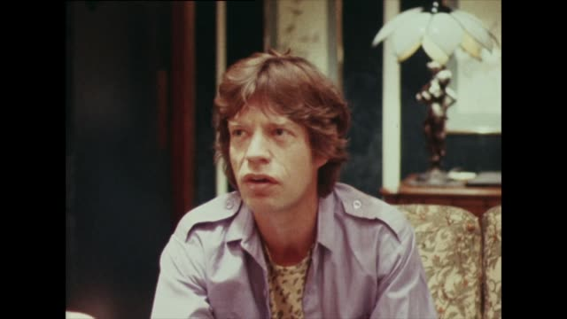 mick jagger talks in 1982 about carrying on performing for 'another five years' before he starts looking too old - popular music tour stock videos and b-roll footage