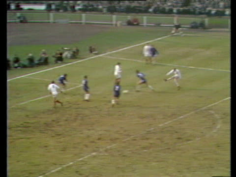Mick Jones follows up rebound and scores Leeds fans celebrate Chelsea vs Leeds United 1970 FA Cup Final Wembley London