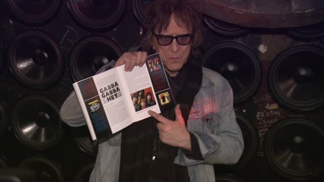 mick rock at john varvatos celebrates the launch of commando the autobiography of johnny ramone at john varvatos bowery nyc on march 29 2012 in new... - モダンロック点の映像素材/bロール
