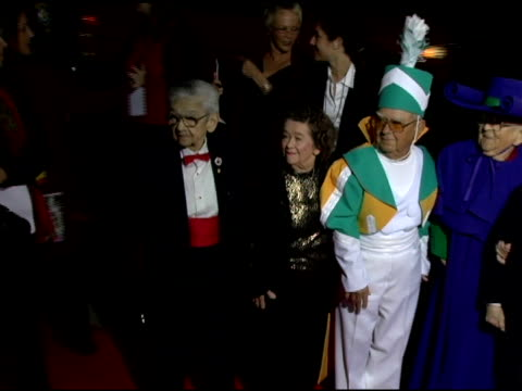 Mickey Carroll Myrna Swenson Clarence Swenson Meinhardt Raabe Karl Slover and Margaret Pellegrini at the 'Wizard Of Oz' Ruby Red Slipper DVD Gala...
