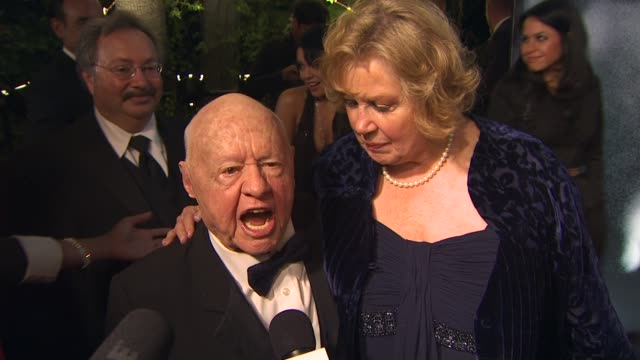 mickey rooney at the 2010 vanity fair oscar party hosted by graydon carter at west hollywood ca. - oscar party stock videos & royalty-free footage