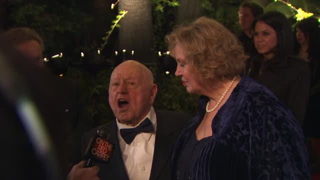 mickey rooney at the 2010 vanity fair oscar party hosted by graydon carter at west hollywood ca - oscar party stock-videos und b-roll-filmmaterial