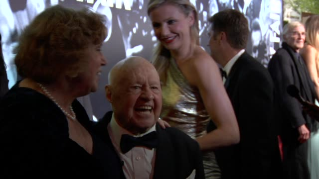 mickey rooney at the 2010 vanity fair oscar party hosted by graydon carter at west hollywood ca. - vanity fair oscar party stock videos & royalty-free footage