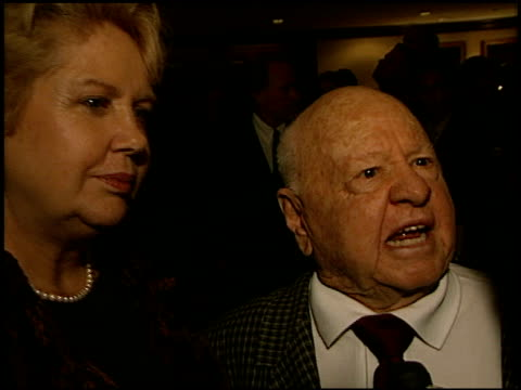 mickey rooney at the adopt-a-minefield benefit at the century plaza hotel in century city, california on september 18, 2002. - センチュリープラザ点の映像素材/bロール